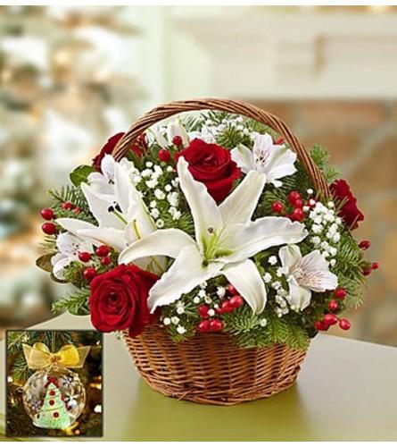 Christmas Basket with Lenox® Ornament