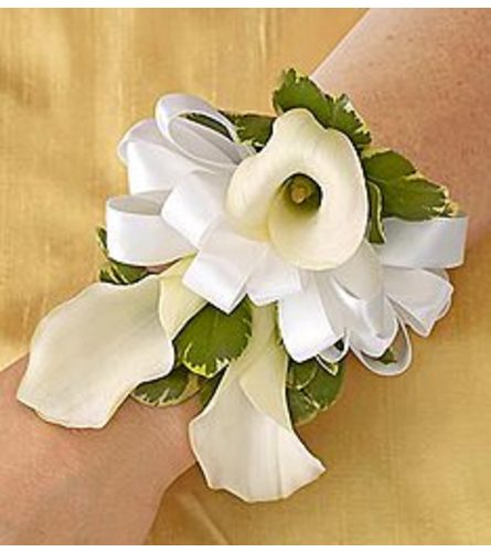 White Calla Lily Corsage *PICK UP ONLY*