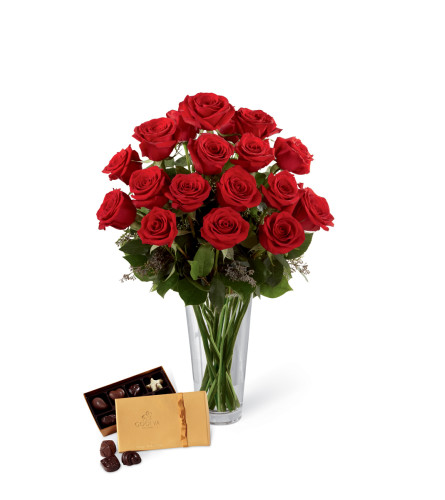 The FTD® Red Rose & Godiva® Bouquet