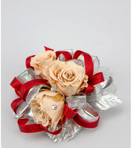Keepsake Corsage - Preserved Peach Roses