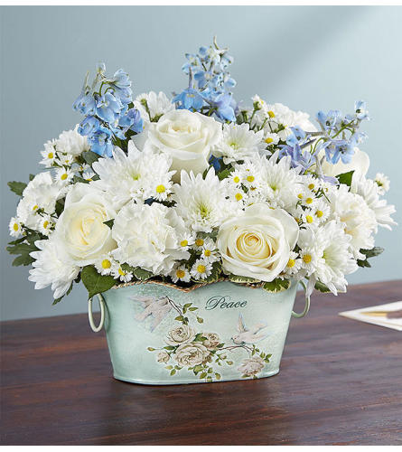 Peace And Healing ™ Blue & White Arrangement