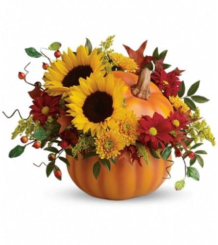 Teleflora's Pretty Pumpkin Bouquet