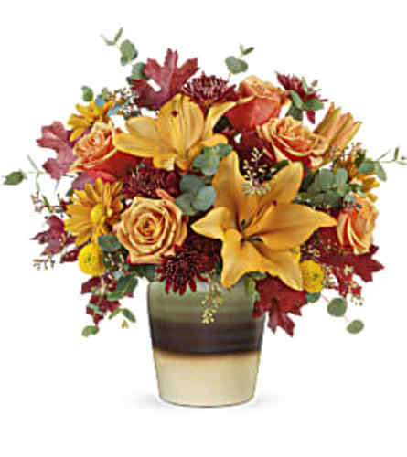 Teleflora's Rustic Sunrise Bouquet with Roses