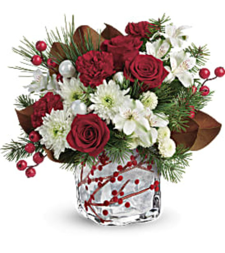 Teleflora's Wondrous Winterberry Bouquet