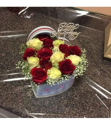 Box flower arrangement