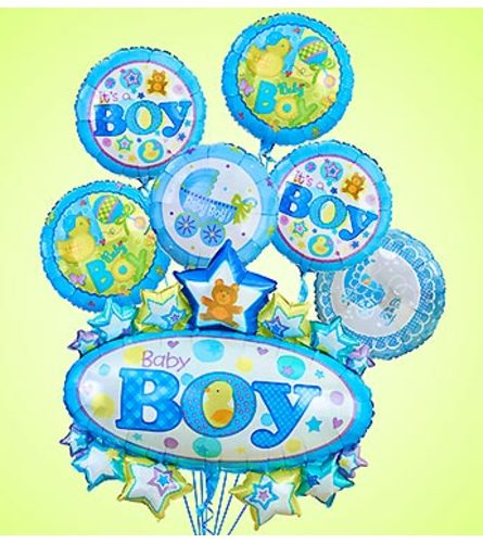 Baby Boy Marquee Mylar Bundle
