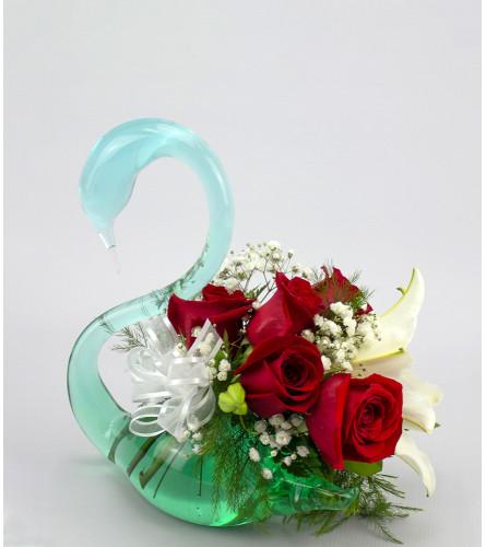 Red Rose Swan