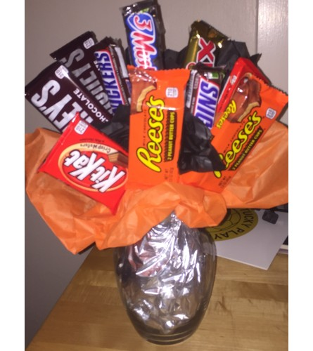 Candy Bar Vase Arrangement