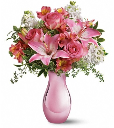 Teleflora's Pink Reflections Bouquet with Roses