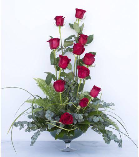 Dashing Red Roses