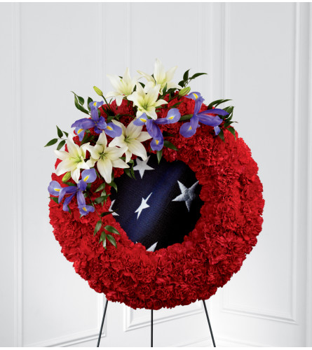 The FTD® To Honor One's Country™ Easel Wreath
