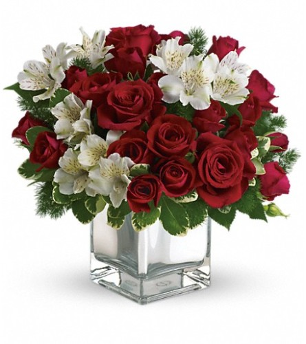 Teleflora's Christmas Blush Bouquet