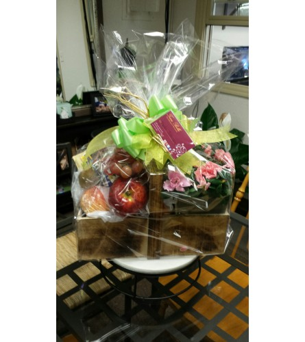 Cheerful Fruit and Plant Basket