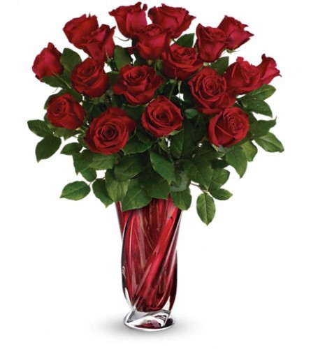 Teleflora's Red Radiance Bouquet