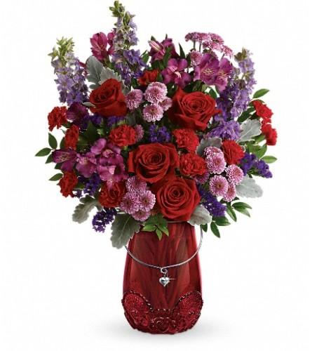 Teleflora's Delicate Heart Bouquet
