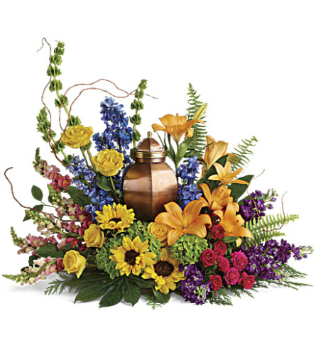 Teleflora's With All Our Hearts Cremation Tribute