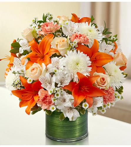 Cherished Memories - Peach, Orange and White