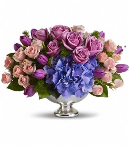 Teleflora's Purple Elegance Centerpiece