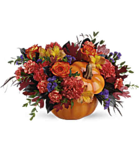 Teleflora's Hauntingly Pretty Pumpkin Bouquet