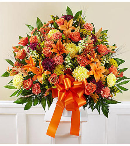 Standing Mixed Basket -  Fall Colors