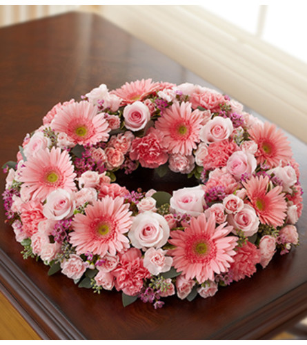 Cremation Wreath - All Pink