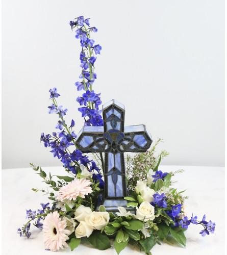 Memory Lamp Blue Cross