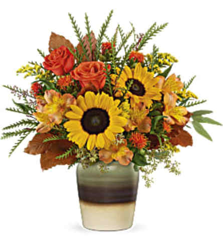 Teleflora's Thankfully Yours Bouquet with Sunflowers
