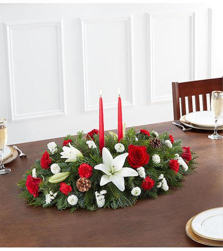 Traditional Christmas Centerpiece