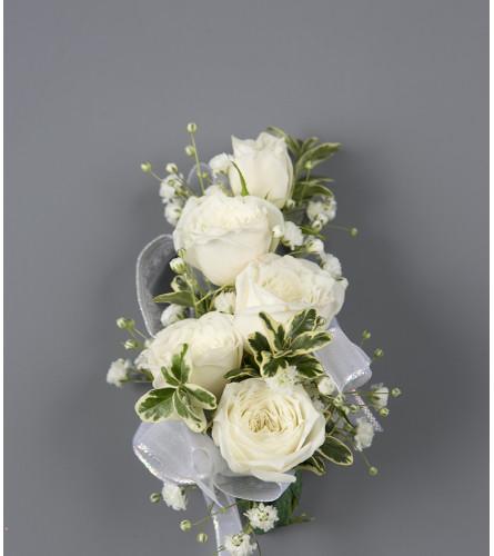 A White Rose Wrist Corsage