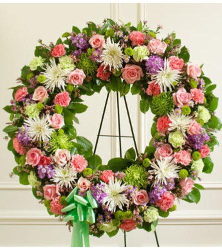 Pastel Mixed Flower Wreath