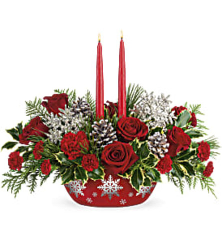 Teleflora's Winter's Eve Centerpiece 2020