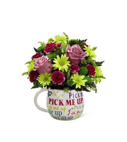 The FTD® Pick-Me-Up® Mug Bouquet