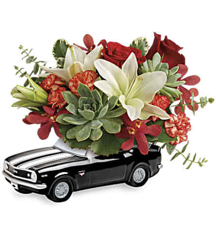 Teleflora's Chevy Camaro Blooming Bouquet