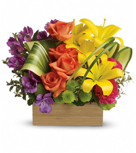 Teleflora's Shades Of Brilliance Bouquet