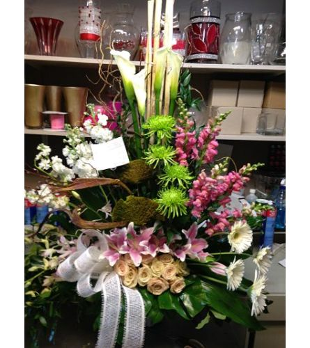 A modern peaceful memories bouquet