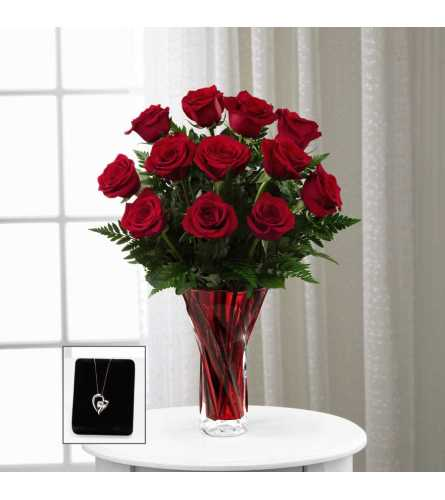 The FTD® In Love with Red Roses™ Pendant