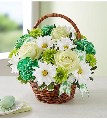 St. Patrick's Day Flower Basket™