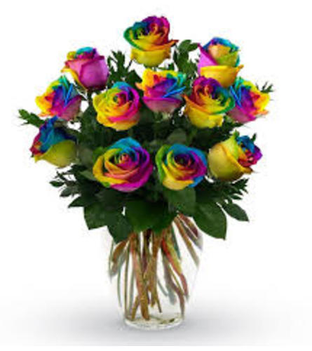 Radiant Rainbow Rose Dream