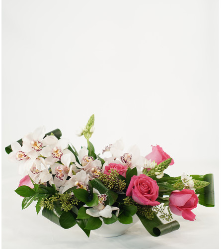 Pink Orchids and Roses Romance