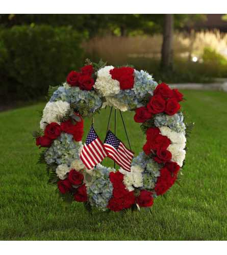 The FTD® To Honor One's Country™ Wreath
