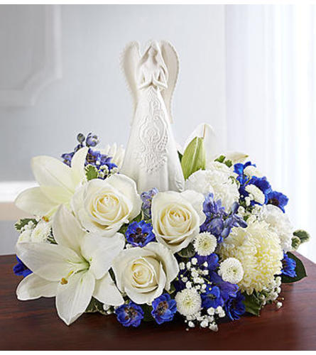 Peaceful Prayers™ Serenity Angel Arrangement Blue and White