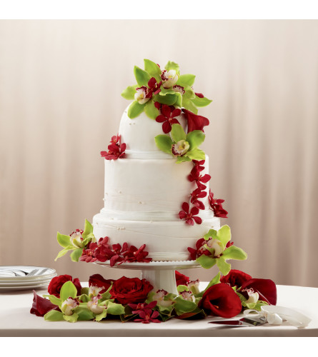 The FTD® Elegant Orchid Cake Décor