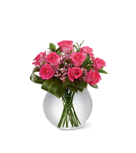 The FTD® Blazing Beauty™ Pink Rose Bouquet