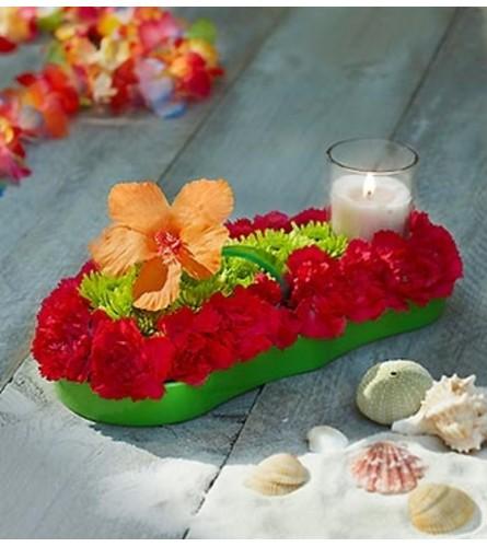 Fresh Flower Flip Flop™ Centerpiece