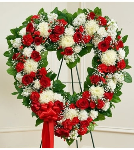 Red and White Open Heart
