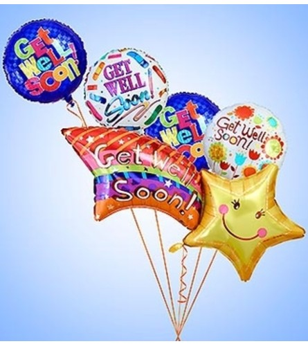 Get Well Soon Shooting Star Mylar Bundle