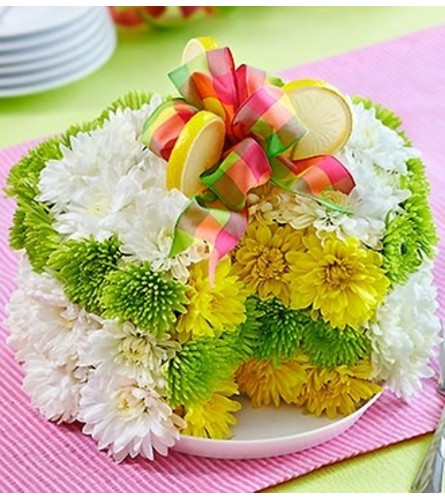 Fresh Flower Cake™ - Lemon