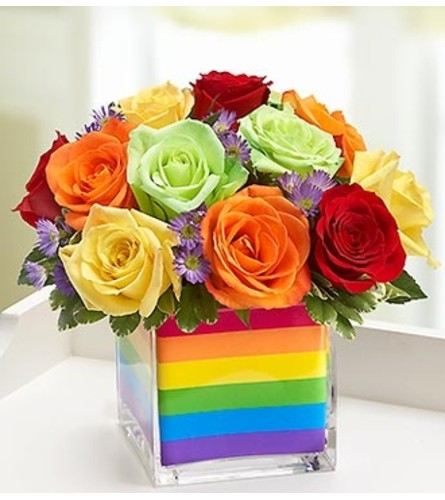 The Rainbow Bouquet™ - Multicolored Roses