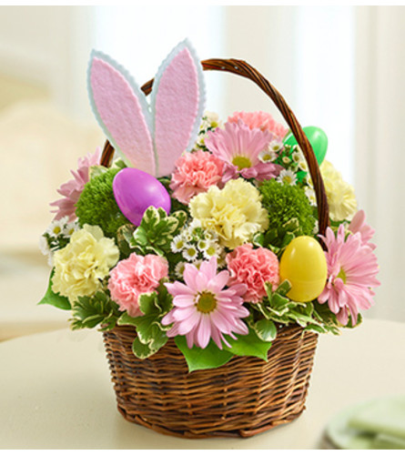 Easter Egg Basket with Bunny Ears