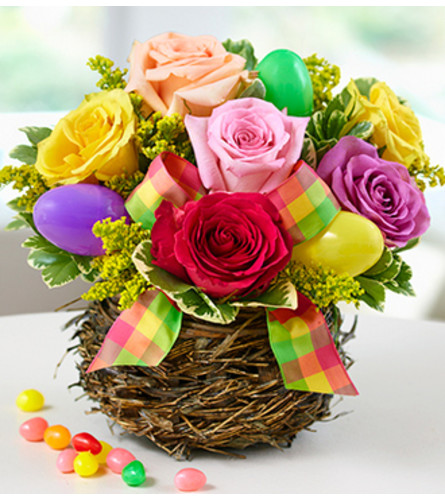 Easter Egg Rose Basket